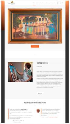 Criação de sites - Serviço de Design Gráfico - Brasília - Artista Céres