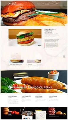 Criação de sites - Serviço de Design Gráfico - Brasília- Angatu Gourmet