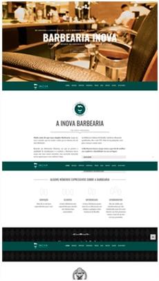 Criação de sites - Serviço de Design Gráfico - Brasília - Barbearia Inova