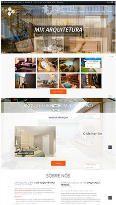 Criação de sites - Serviço de Design Gráfico - Brasília - Mix Arquitetura
