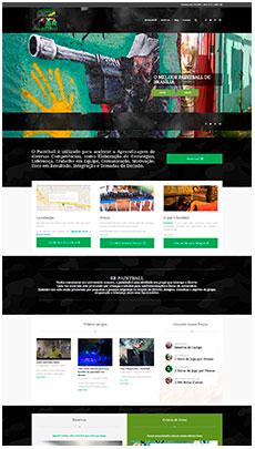 Criação de sites - Serviço de Design Gráfico - Brasília -Br Paintball