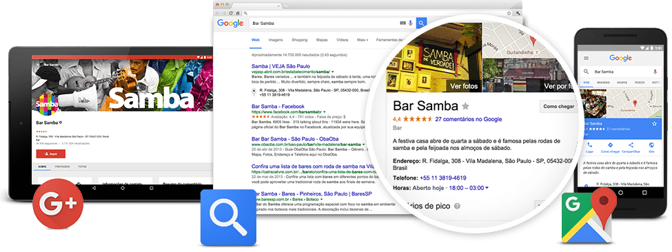 google meu negocio bar samba