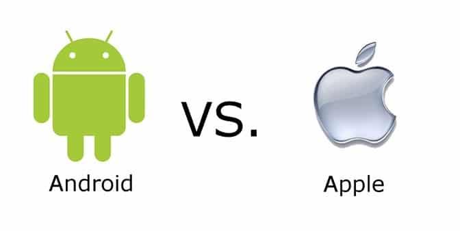 android-vs-ios - Desenvolvimento de Apps
